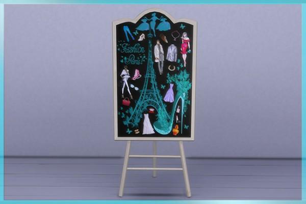 Blackys Sims 4 Zoo: Chalkboard by sylvia60