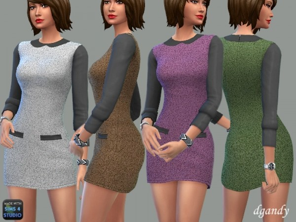 The Sims Resource: Mini Dress   Ava by dgandy