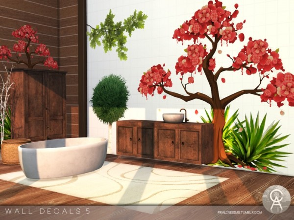 The Sims Resource: Wall Decals 5 by Pralinesims