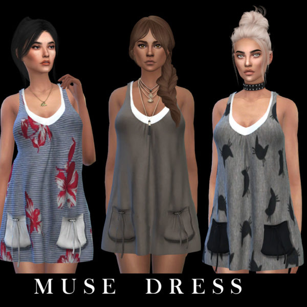 Leo 4 Sims: Muse dress recolored