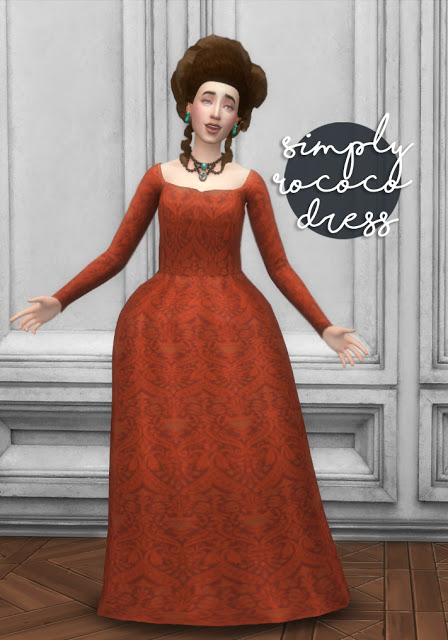 History Lovers Sims Blog: Simply Rococo Dress