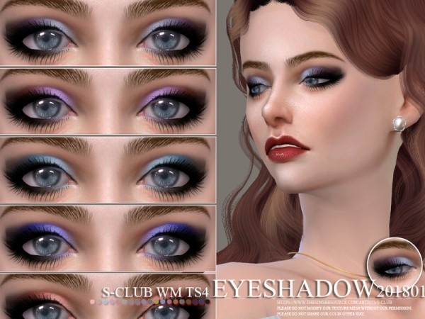 The Sims Resource: Eyeshadow 201801 by S Club