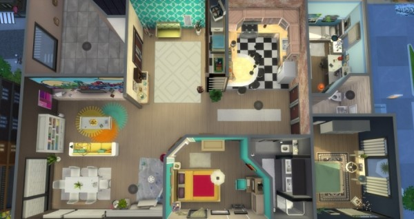 Sims Artists Appartement 121 Hakim Sims 4 Downloads