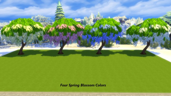 Mod The Sims: Seasons Weeping Blossom Tree by Snowhaze