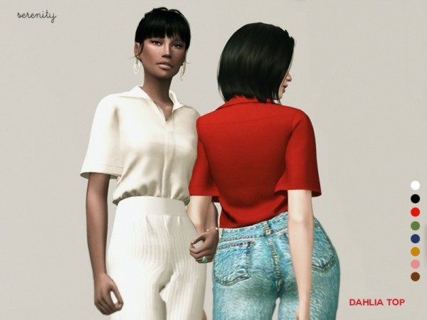 The Sims Resource: Dahlia Top by serenity cc