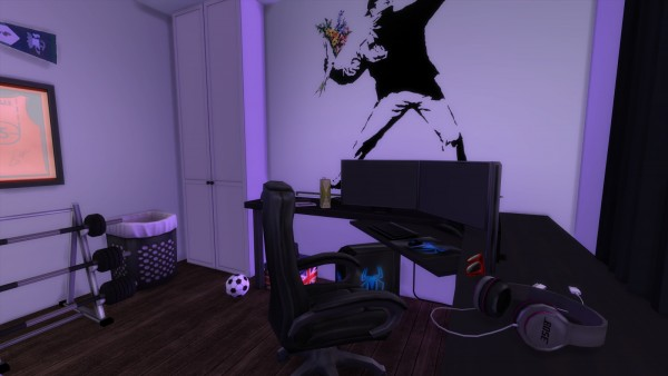 Pandashtproductions: Benjorn game room by Rissy Rawr