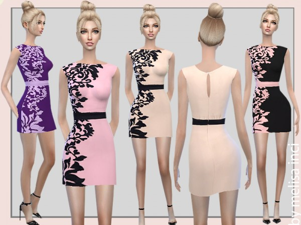 The Sims Resource: Embroidered Mini Dress by melisainci
