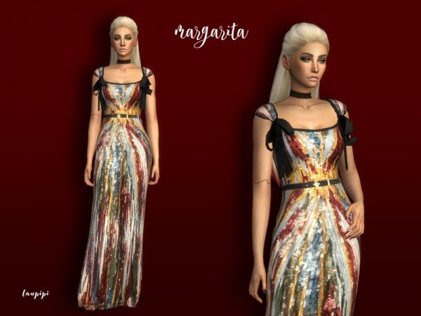The Sims Resource: Margarita dress by Laupipi