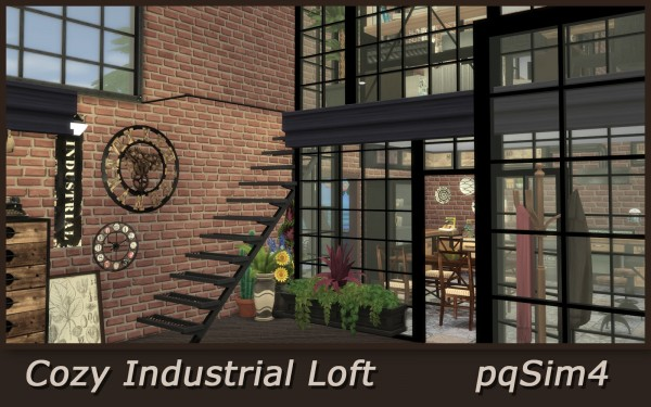 Pqsims4 Cozy Industrial Loft Sims 4 Downloads