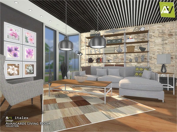 The Sims Resource: Avangarde Livingroom by ArtVitalex