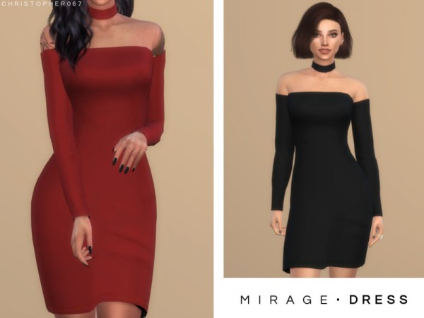 The Sims Resource: Mirage Dress by Christopher067