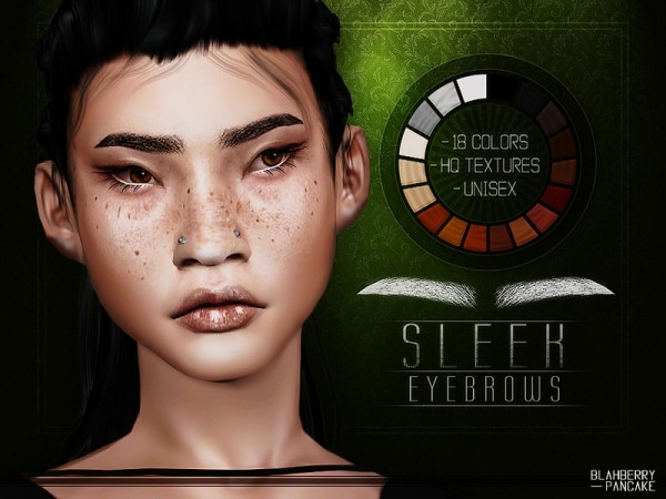 The Sims Resource: Sleek Eyebrows by Blahberry Pancake