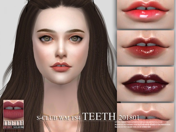The Sims Resource: Teeth 201801 by S Club