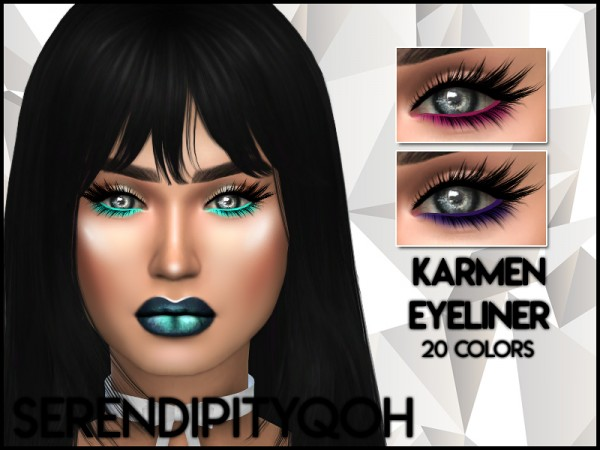 The Sims Resource: Karmen Eyeliner by SerendipityQOH