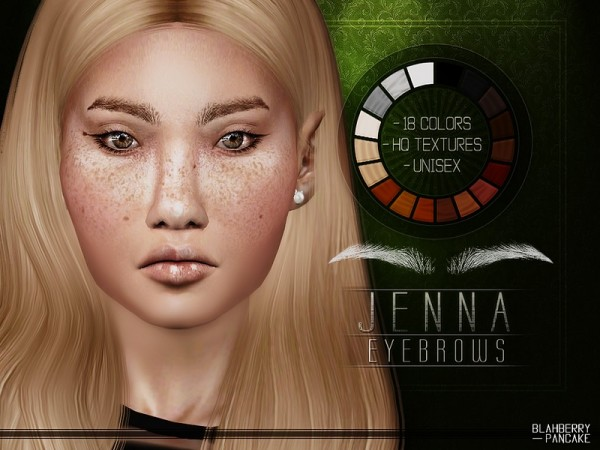 The Sims Resource: Jenna Eyebrows by Blahberry Pancake