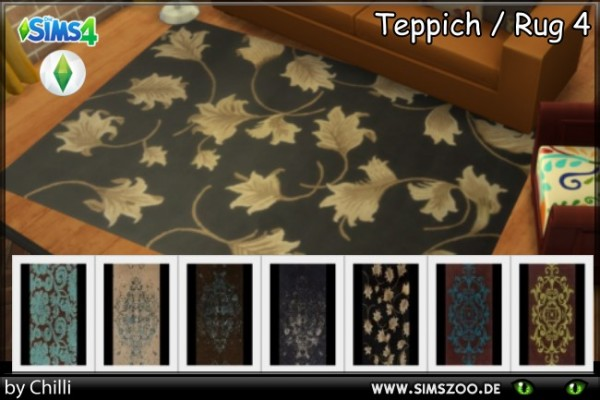 Blackys Sims 4 Zoo: Rugs 4 by Schnattchen