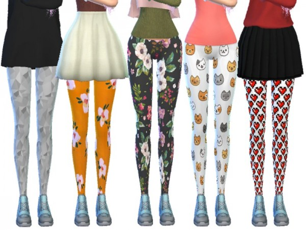The Sims Resource: Tumblr Themed Leggings Pack Ten by Wicked Kittie