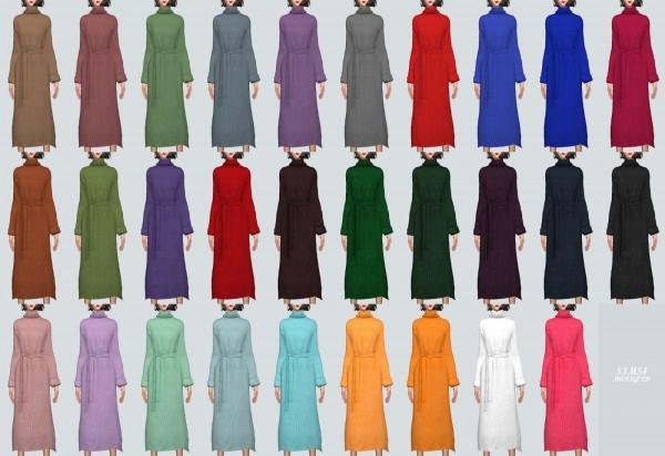 SIMS4 Marigold: Long Turtleneck Dress