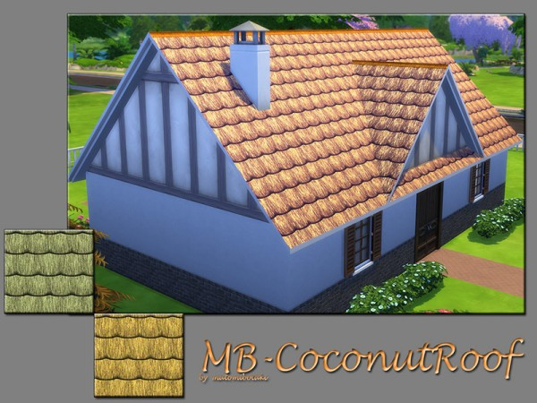 The Sims Resource: Coconut Roof by matomibotaki