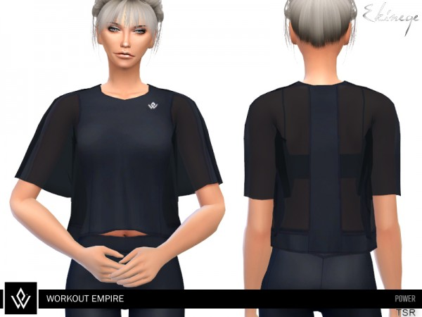 The Sims Resource: Workout Empire Power Sheer Tee by ekinege