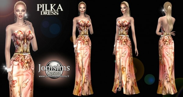 Jom Sims Creations: Pilka dress