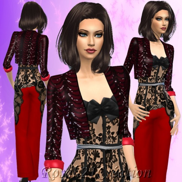 Sims Dentelle: Party one night outfit