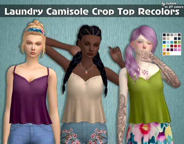 Tukete: Camisole Crop Top Recolors