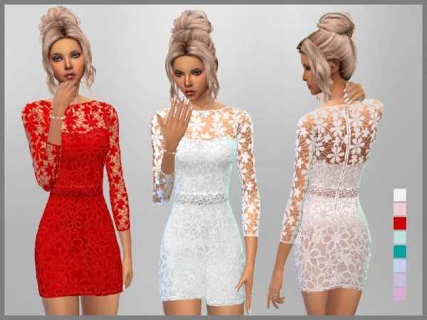 The Sims Resource: Short Lace Dress by SweetDreamsZzzzz