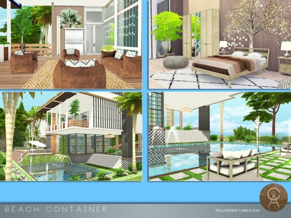The Sims Resource: Beach Container by Pralinesims