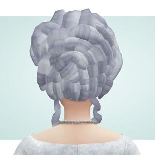 History Lovers Sims Blog: Marie Antoinette hair retextured
