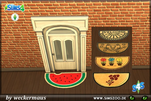 Blackys Sims 4 Zoo: Naughty half round rugs by weckermaus