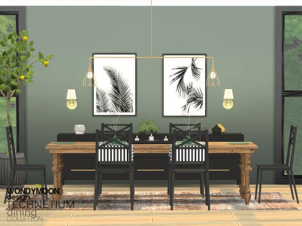 The Sims Resource Technetium Diningroom By Wondymoon