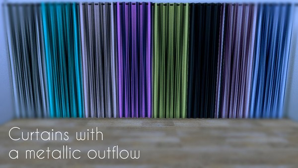 Lafleur 4 Sims: Curtains with a metallic outflow