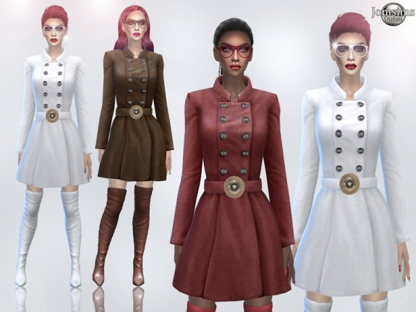 The Sims Resource: Kenza coat dress by jomsims