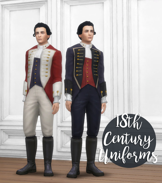 History Lovers Sims Blog: 18th Century army uniforms