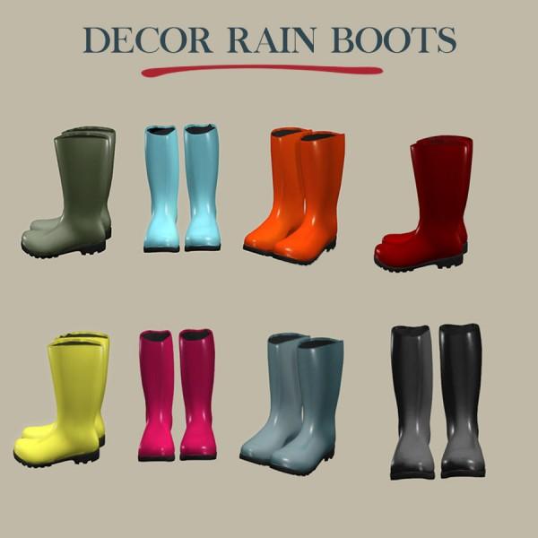 Leo 4 Sims: Rain boots