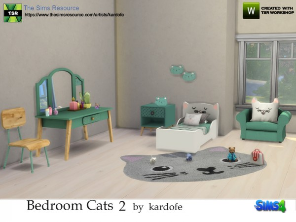 The Sims Resource: Bedroom Cats 2 by Kardofe