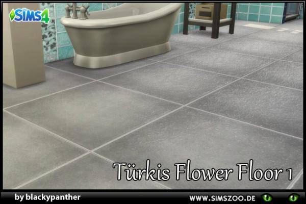 Blackys Sims 4 Zoo: Tuerkis Flowerfloor 1 by blackypanther