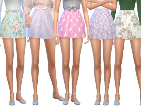 The Sims Resource: Themed Skater Skirts by Wicked Kittie