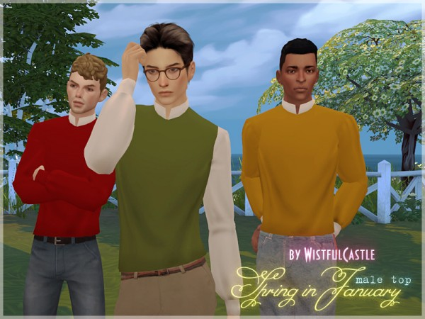 The Sims Resource: Spring in January  top by WistfulCastle