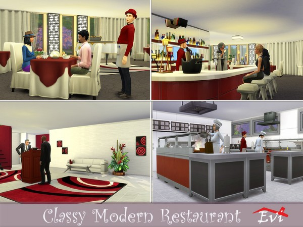 The Sims Resource: Classy Modern Restaurant by evi