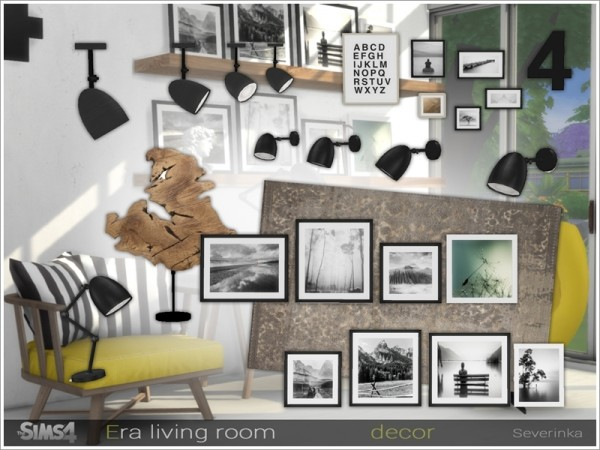 The Sims Resource: Era livingroom decor by Severinka