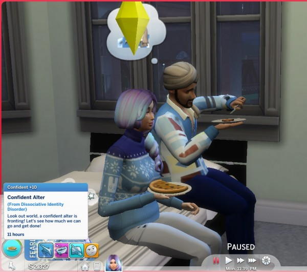 Mod The Sims: Dissociative Identity Disorder Trait by piebaldfawn