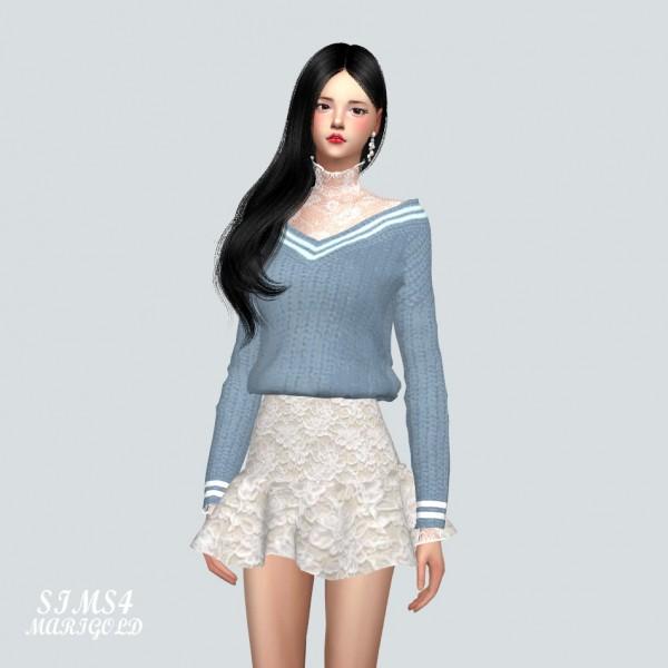 SIMS4 Marigold: Layering Lace Top