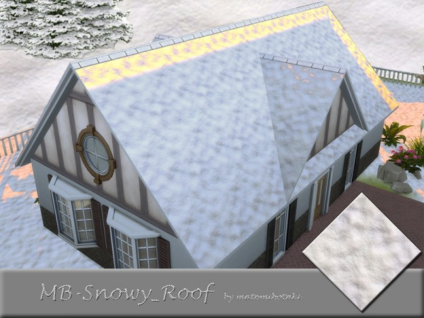 The Sims Resource: Snowy Roof by matomibotaki