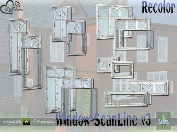The Sims Resource: WindowSet ScanLine v3 Recolored by BuffSumm