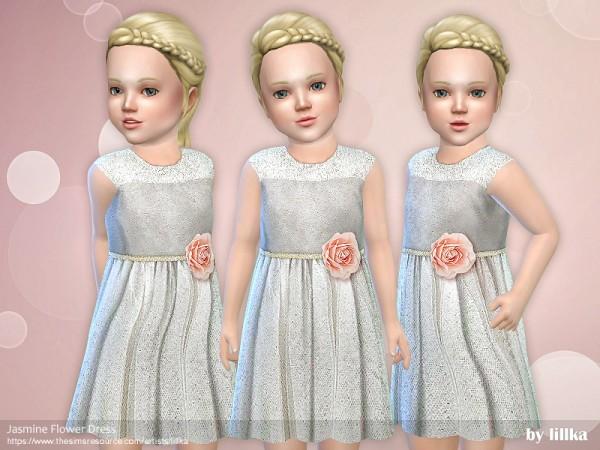 The Sims Resource: Jasmine Flower Dress by lillka