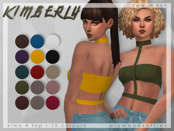 The Sims Resource: Kimberly top by Plumbobs n Fries