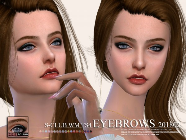 The Sims Resource: Eyebrows 201802 by S Club