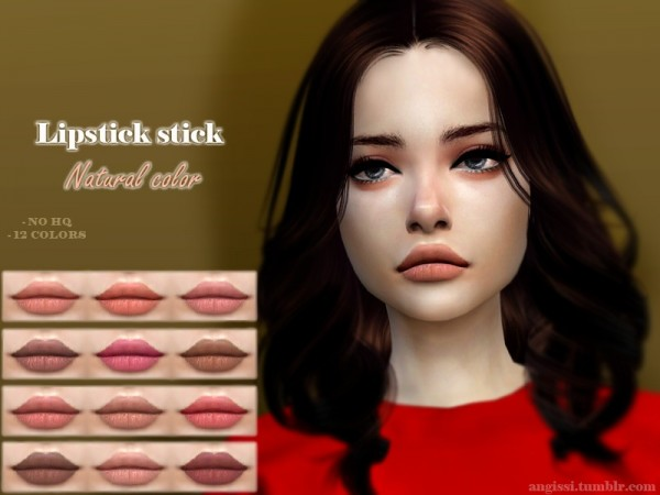 The Sims Resource: Lipstick stick   Natural color by ANGISSI